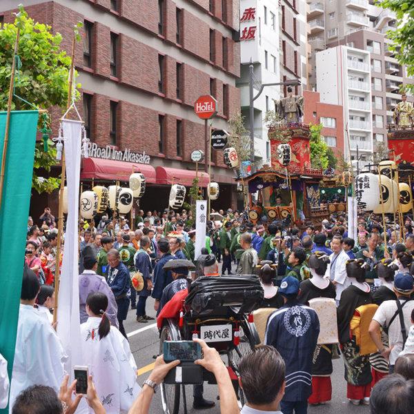 赤坂氷川神社の「赤坂氷川祭」に行ってみた